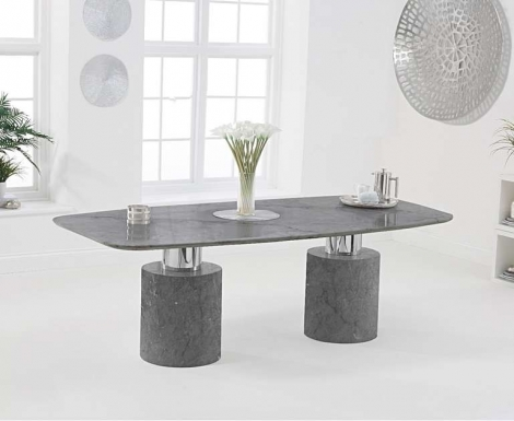 Adelaide 220cm Grey Marble Dining Table
