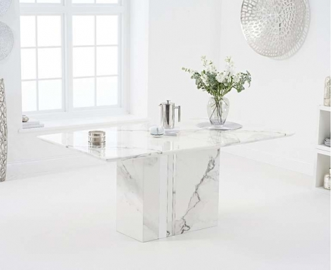 Alice 180cm White Marble Dining Table