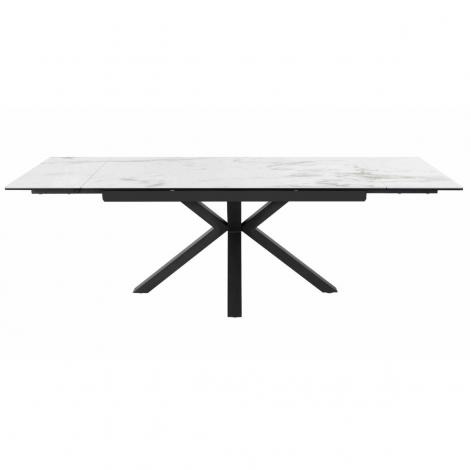 Amari 160-240cm - White Polished Ceramic Extending Table