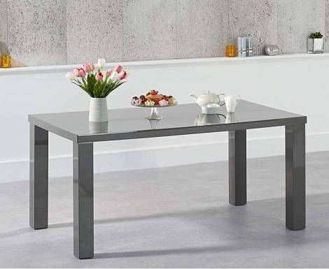 Ava 160cm Dark Grey High Gloss Table