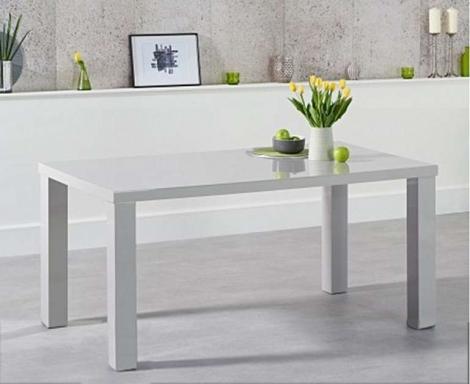 Ava 160cm Light Grey High Gloss Table