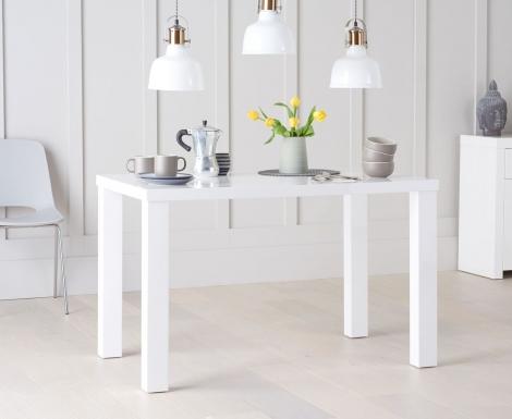 Ava 120cm White High Gloss Table
