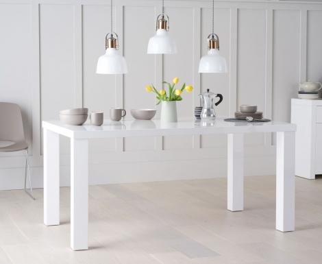 Ava 160cm White High Gloss Table