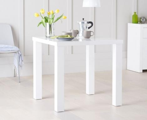 Ava 80cm White High Gloss Table