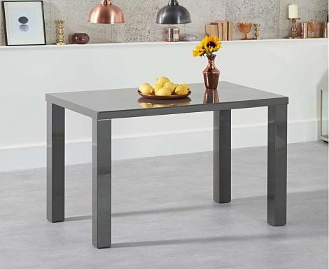 Ava 120cm Dark Grey High Gloss Table