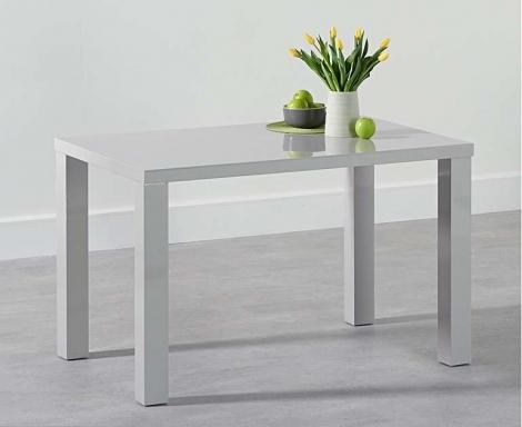 Ava 120cm Light Grey High Gloss Table