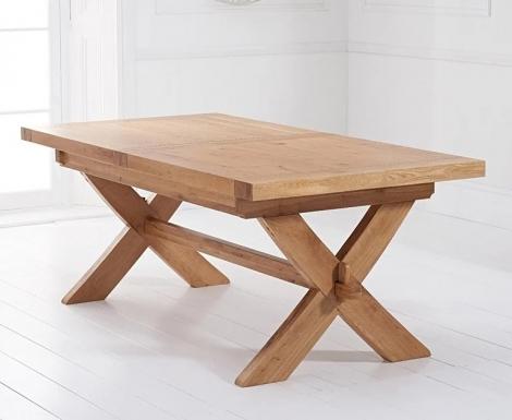 Avignon 160cm - 200cm Light Oak Extending Dining Table