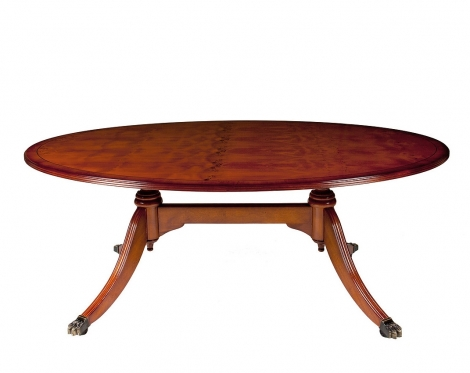 """Ashmore Antique Reproduction, 54"""" Oval Coffee Table"""