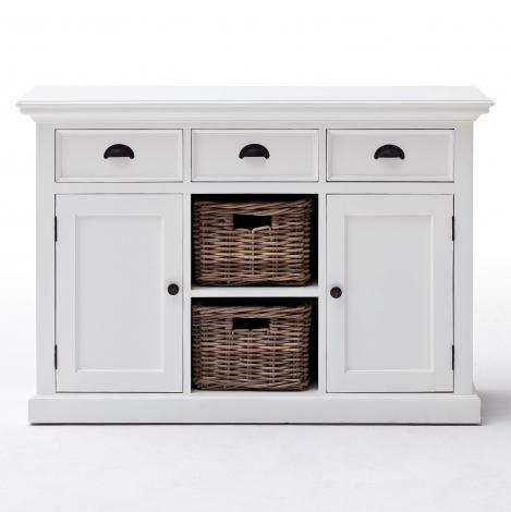 Nova Solo, Halifax Pure White 2 Basket Sideboard