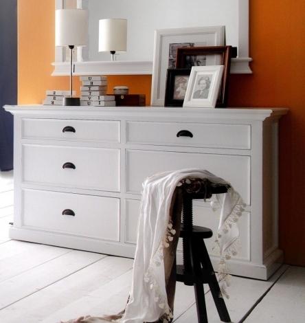Nova Solo, Halifax Pure White Painted 6 Drawer Dresser