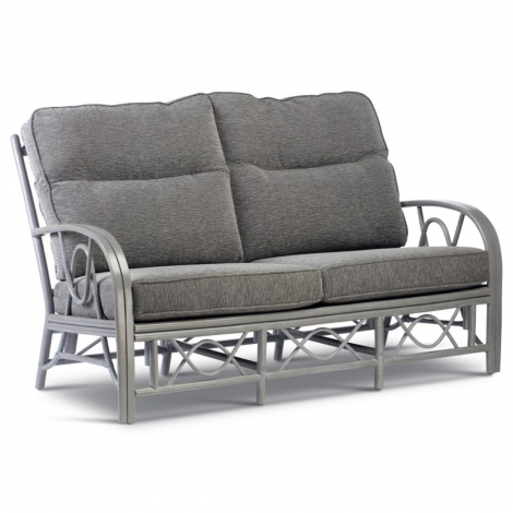 Desser, Bali Grey Wash Cane 3 Seater Sofa
