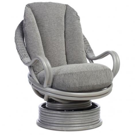 Desser, Bali Grey Wash Deluxe Swivel Rocker Chair