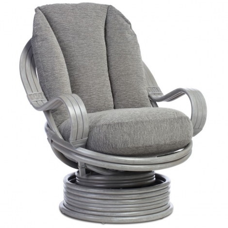 Desser, Bali Grey Wash Laminated Arm Swivel Rocker Chair