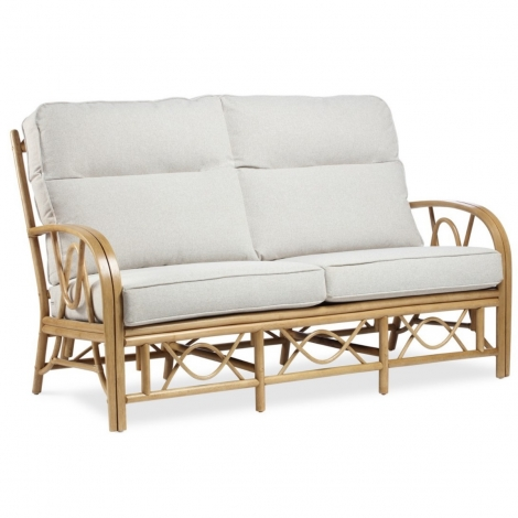 Desser, Bali Light Oak Cane 3 Seater Sofa