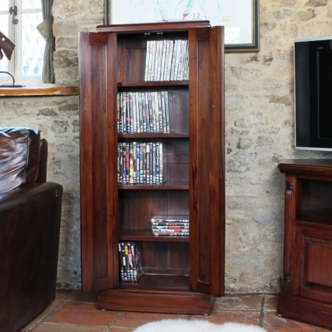 Louis Solid Mahogany CD/DVD Cupboard