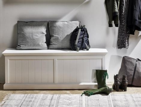 Nova Solo, Halifax Pure White Storage / Blanket Chest