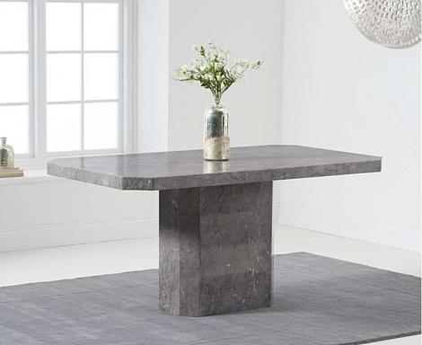 Benson 160cm Grey Marble Dining Table