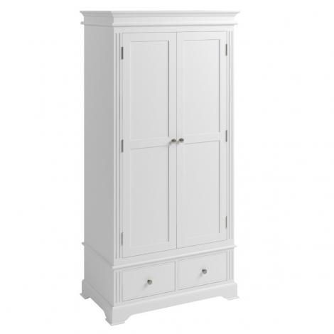 Ashley White Painted 2 Door 2 Drawer Wardrobe