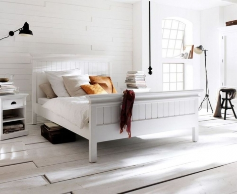 Nova Solo, Halifax Pure White Painted Bed Frame