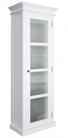 Nova Solo, Halifax Pure White 1 Door Glazed Vitrine