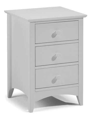 Cameo Dove Grey 3 Drawer Bedside Chest