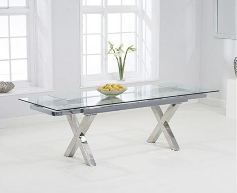 Celeste 160cm - 240cm Extending Glass Top Dining Table