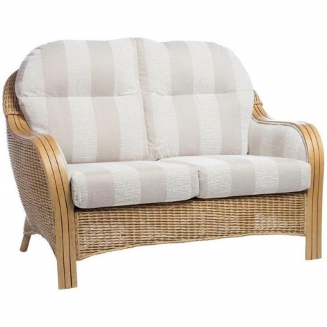 Desser, Centurion, Light Oak, Cane 2 Seater Sofa
