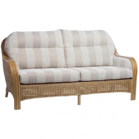 Desser, Centurion, Light Oak, Cane 3 Seater Sofa