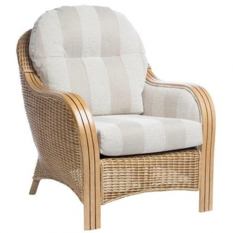 Desser, Centurion, Light Oak, Cane Arm Chair
