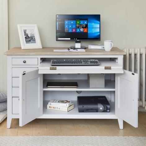 Autograph Grey Painted Hidden Home Office Desk