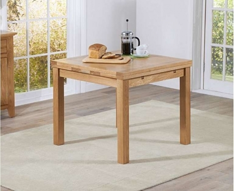 Cambridge 90cm - 160cm Square Extending Oak Dining Table