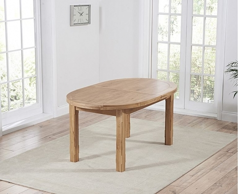 Cheyenne 167cm - 247cm Extending Solid Oak Oval Dining Table