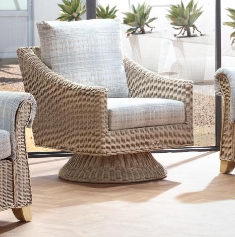 Desser, Clifton, Natural Wash, Cane Dijon Swivel Chair