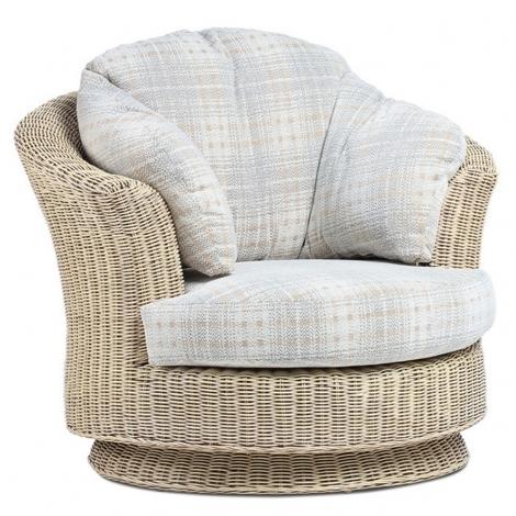Desser, Clifton, Natural Wash Cane Lyon Swivel Chair