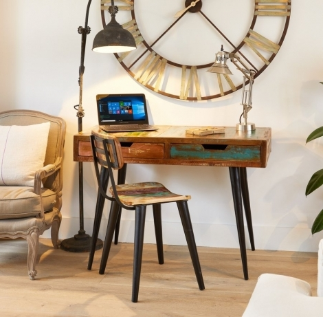 Reclaimed Painted Laptop Desk / Dressing Table