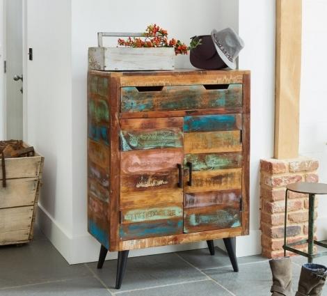 Reclaimed Painted Shoe Cupboard