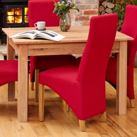 Baumhaus Mobel Oak 120cm Fixed Top Dining Table