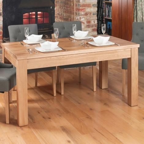 Baumhaus Mobel Oak Dining Table (4 - 8 Seater) Hidden Extender
