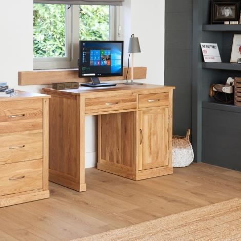 Baumhaus Mobel Oak Computer Desk Single Pedestal