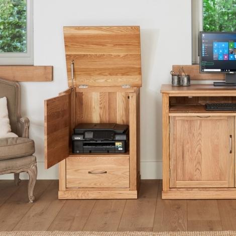 Baumhaus Mobel Oak Printer Cabinet