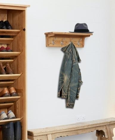 Baumhaus Mobel Oak Wall Mounted Coat Rack