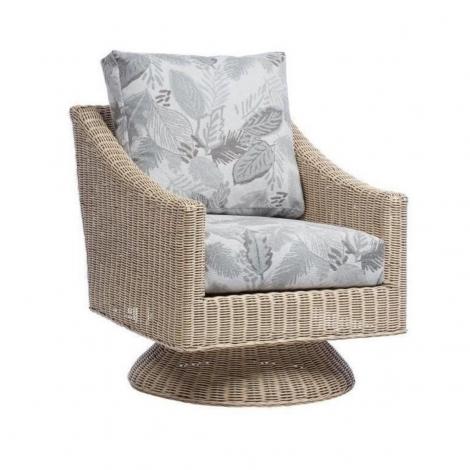 Desser, Corsica, Natural Wash, Dijon Cane Swivel Chair