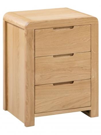 Geo, Oak, 2 Drawer Bedside