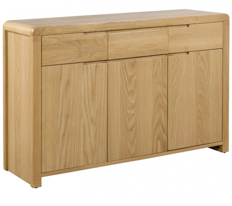 Geo, Oak, 3 Door 3 Drawer Sideboard