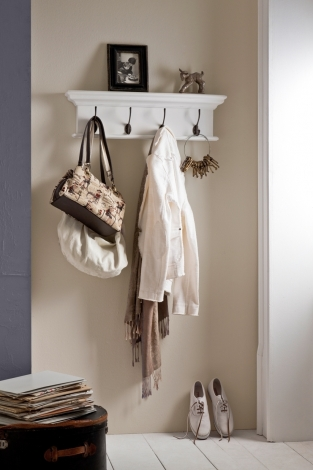 Nova Solo, Halifax Pure White 4 Hook Coat Rack