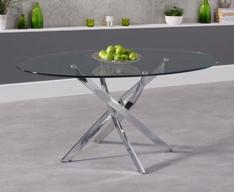 Daytona Oval 165cm Glass Dining Table