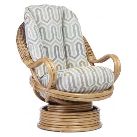 Desser, Manila, Light Oak, Deluxe Cane Swivel Rocker Chair