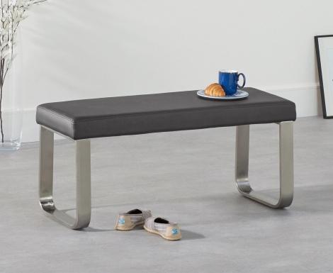 Ava Small Grey Bench 102cm