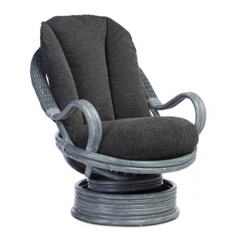 Desser, Dijon, Grey Frame, Cane Deluxe Swivel Rocker Chair