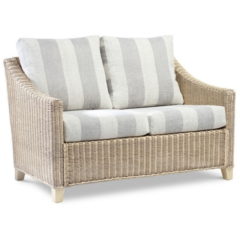 Desser, Dijon, Natural Wash, Cane 2 Seater Sofa